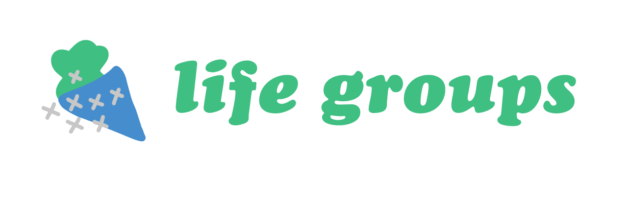 Logo with the text, life groups